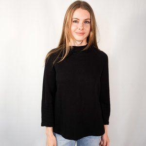 AMOUR VERT Black High-Neck Pullover Sweatshirt